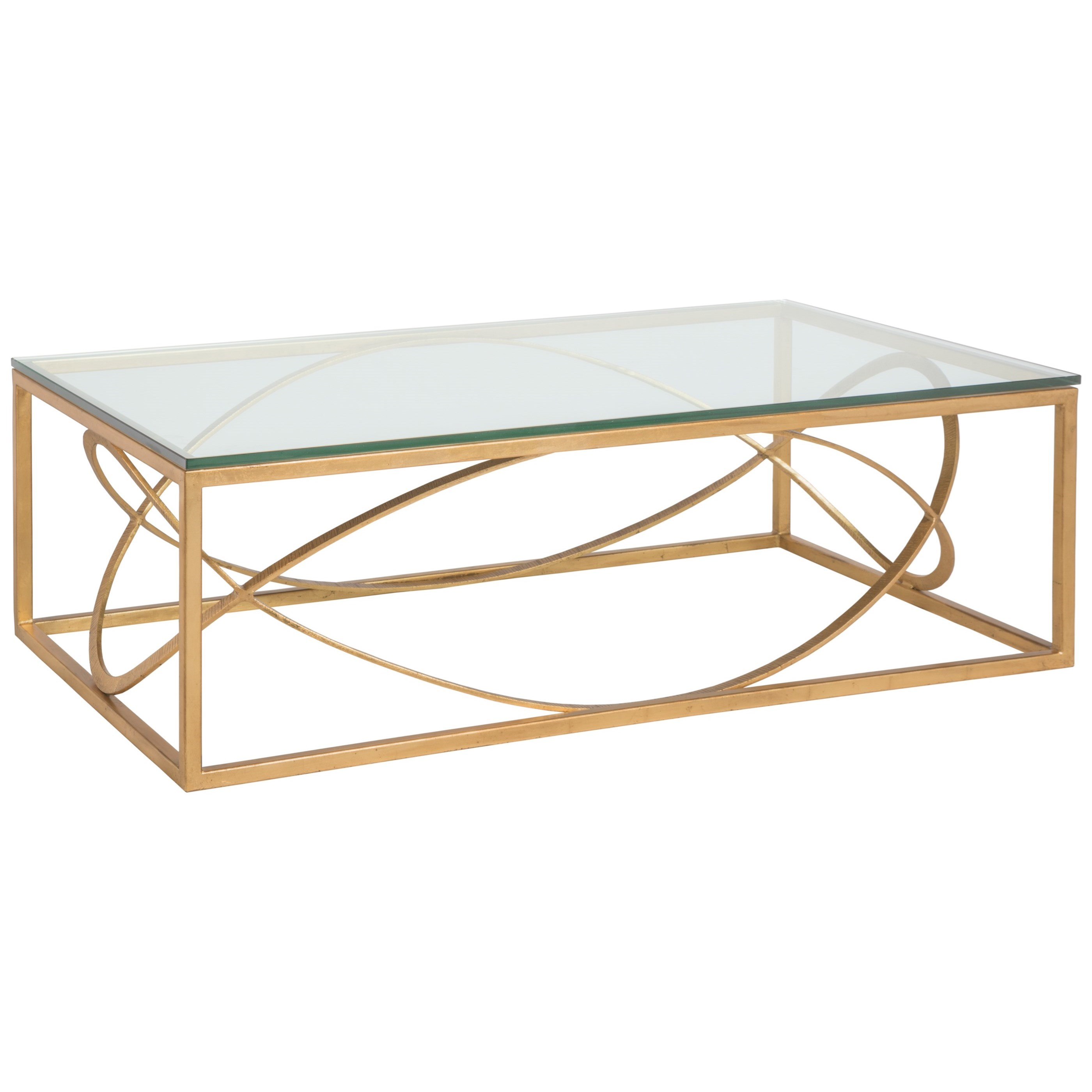 Metal Designs Ellipse Rectangular Cocktail Table by Artistica at Alison Craig Home Furnishings