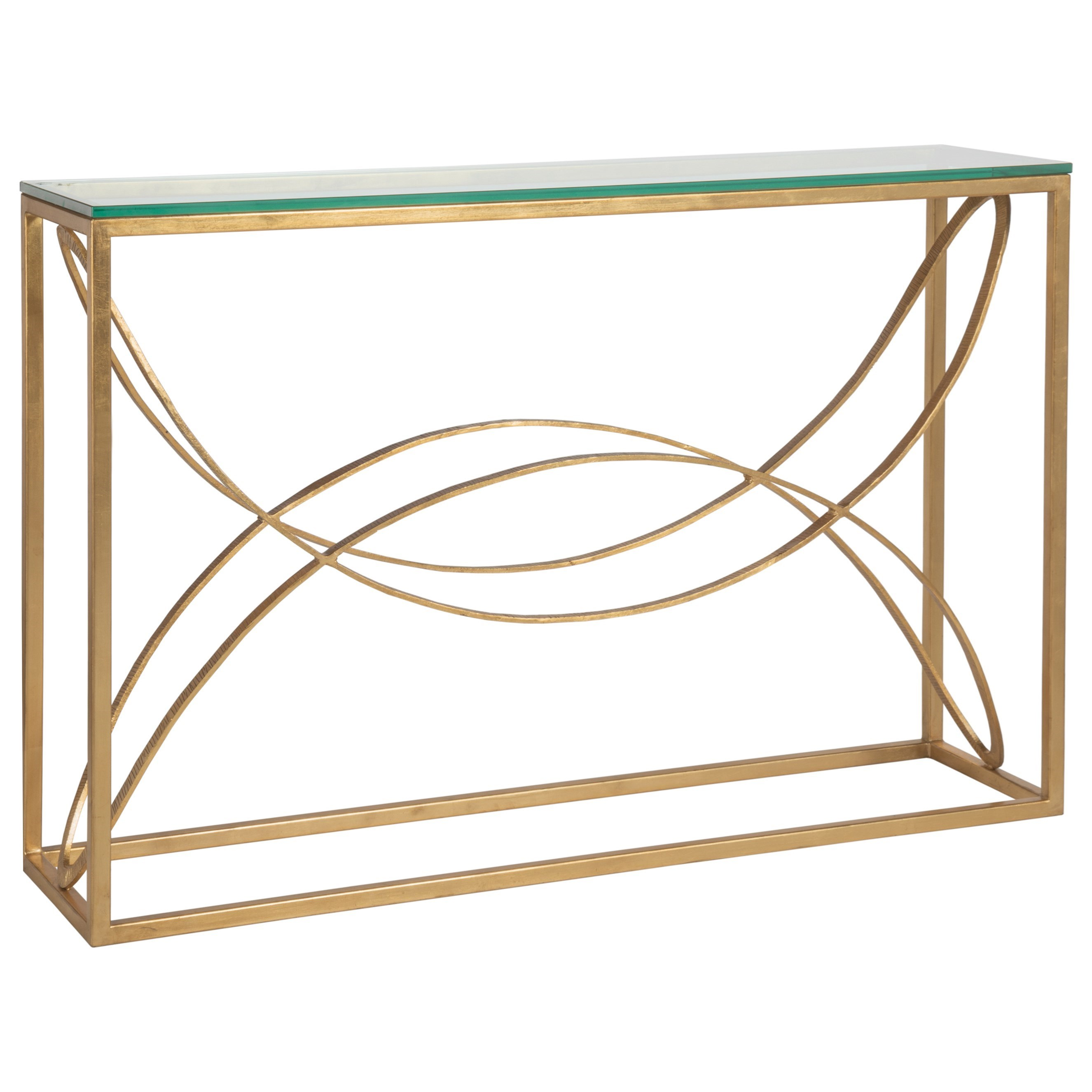 Metal Designs Ellipse Console by Artistica at Alison Craig Home Furnishings