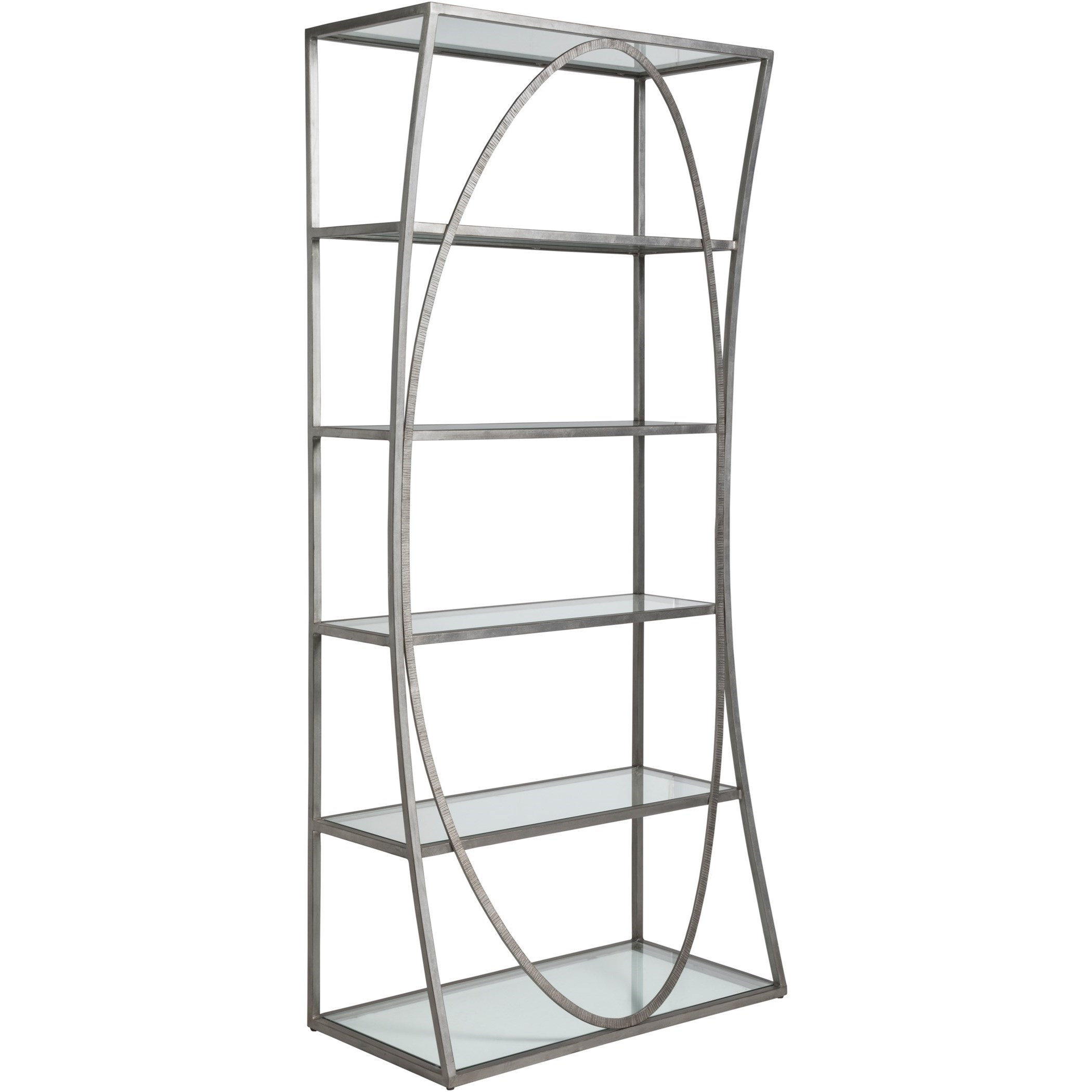 Metal Designs Ellipse Etagere by Artistica at Alison Craig Home Furnishings