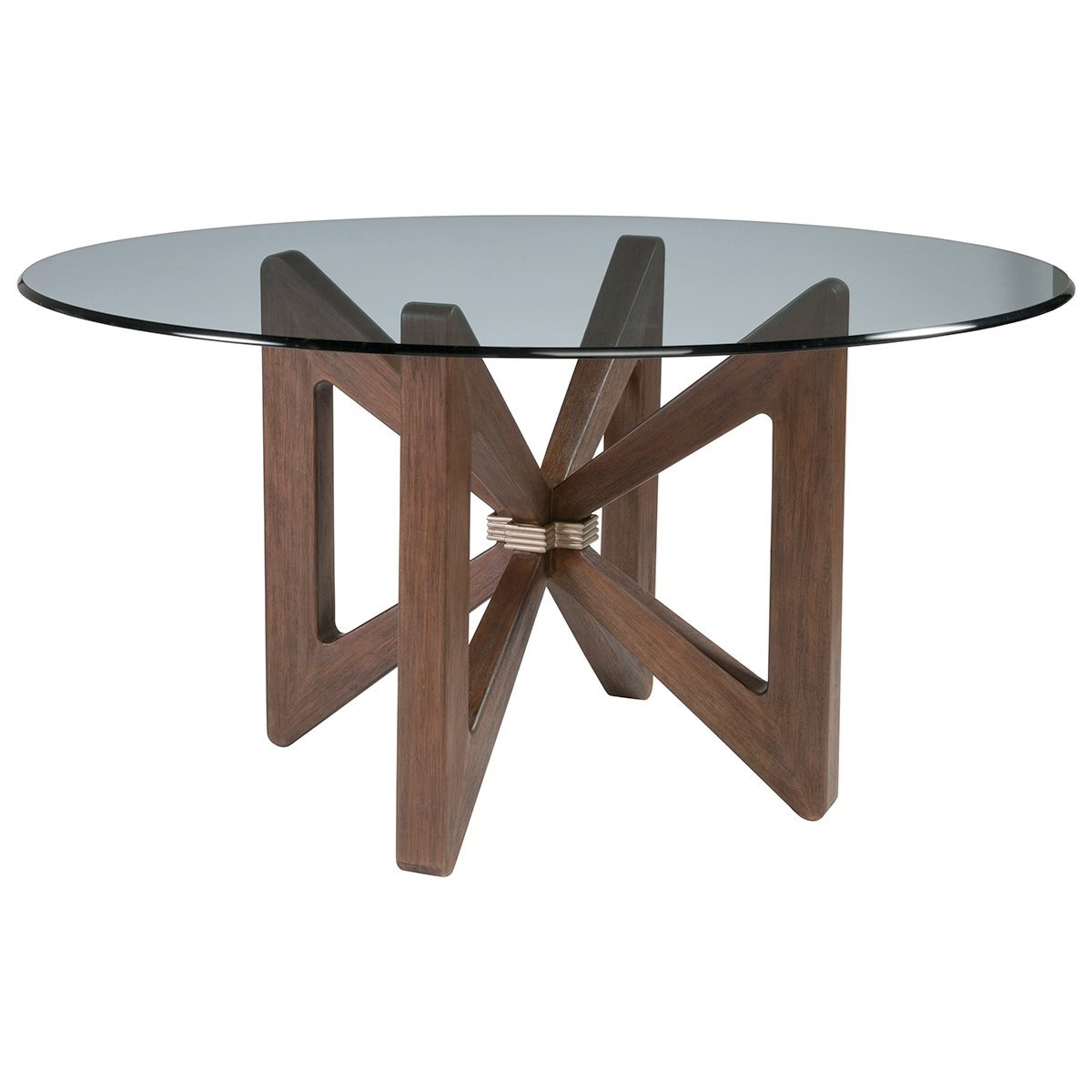 Cohesion Butterfly Round Dining Table With Glass Top by Artistica at Baer's Furniture