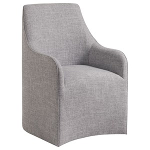 Riley Upholstered Arm Chair with Hidden Casters