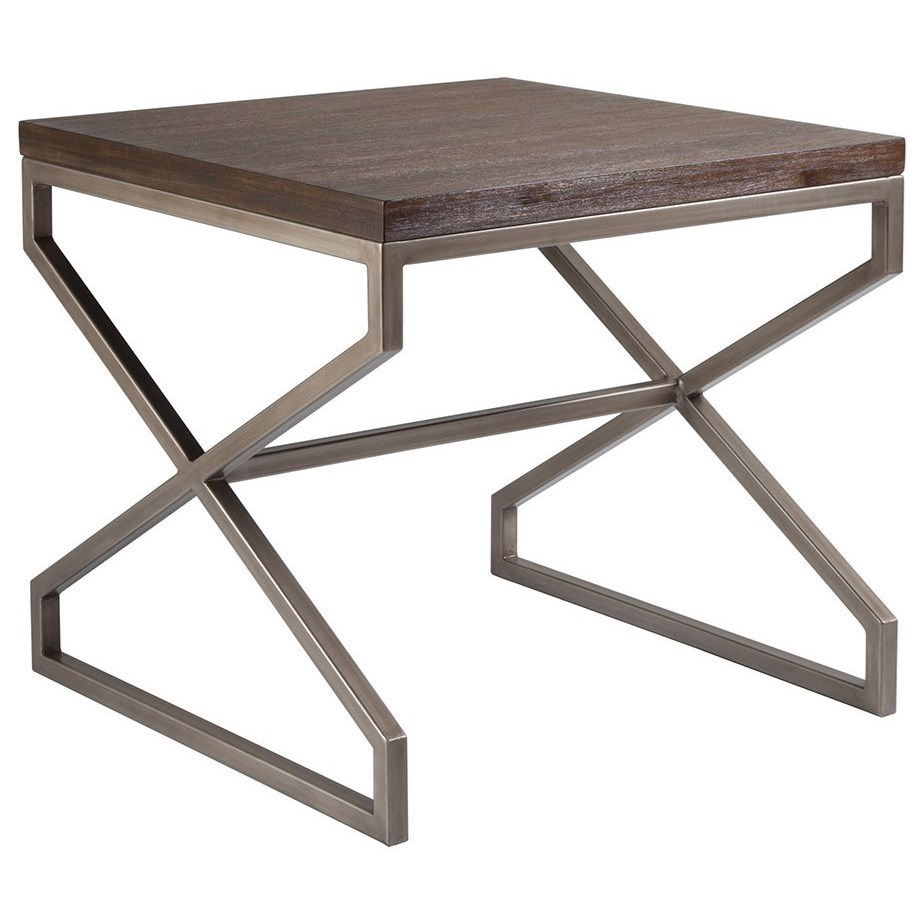 Cohesion Edict Square End Table by Artistica at Baer's Furniture