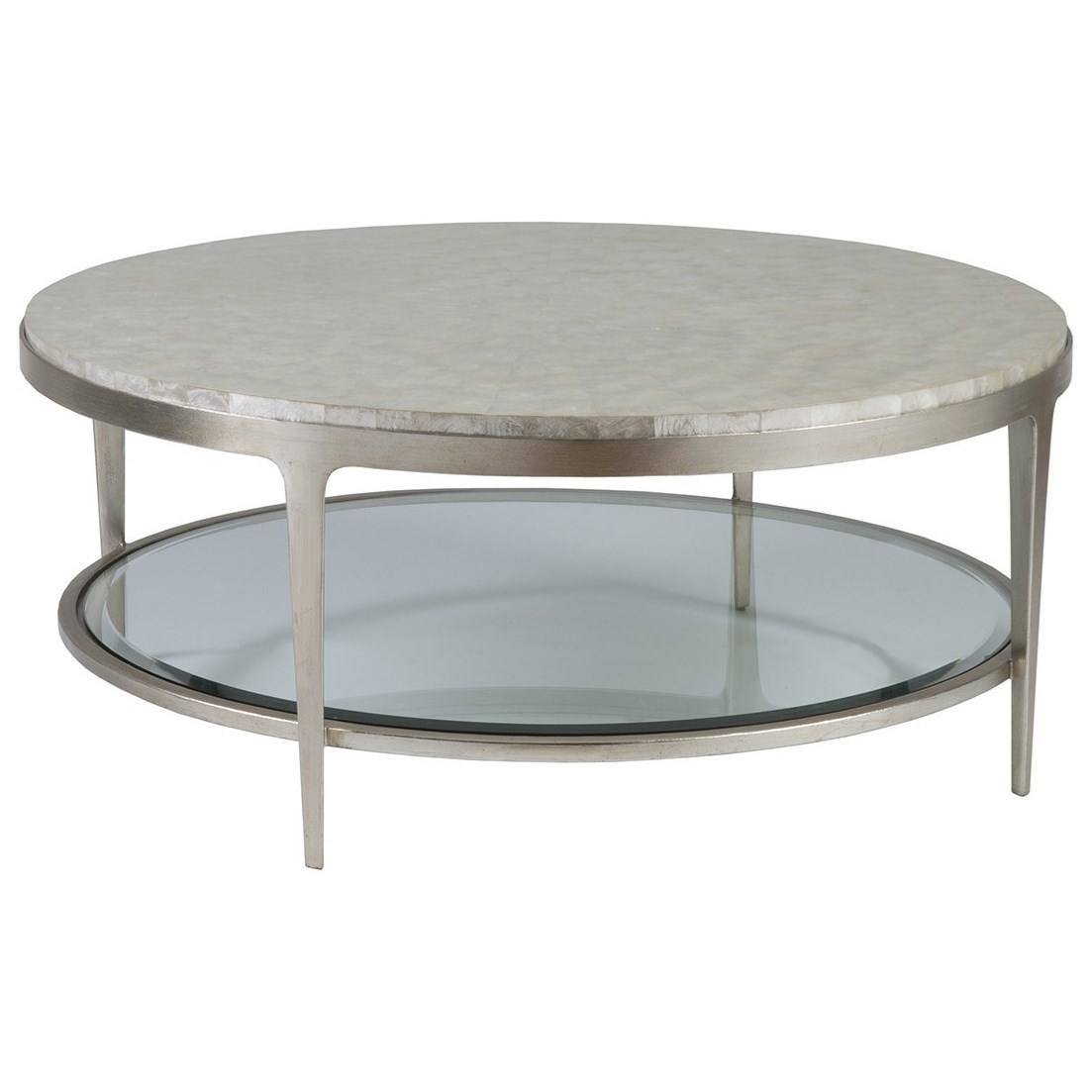 Gravitas Round Cocktail Table by Artistica at Baer's Furniture