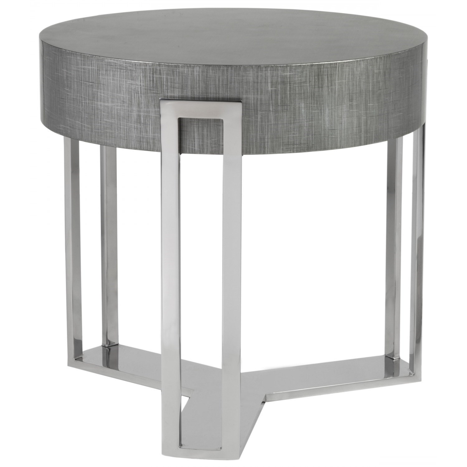 Iridium Round End Table by Artistica at Baer's Furniture