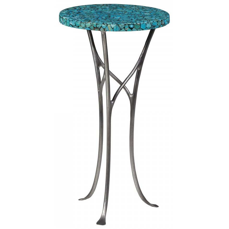 Isidora Turquoise Spot Table by Artistica at Baer's Furniture