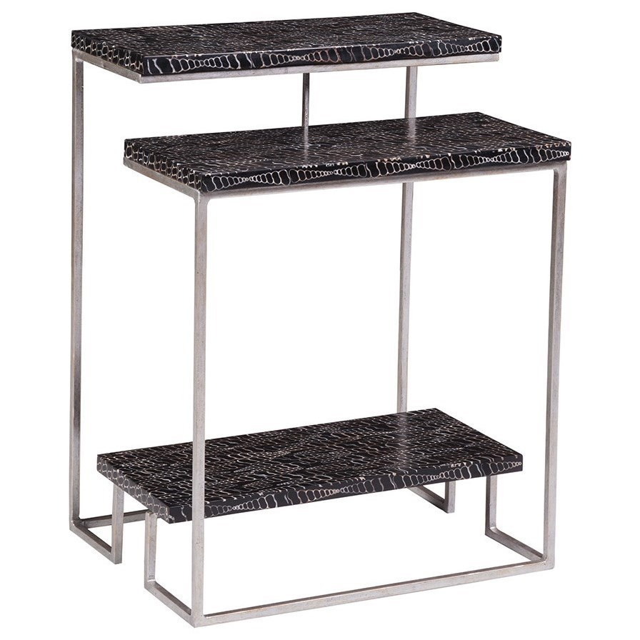 Mindoro Tiered Rectangular Spot Table by Artistica at Baer's Furniture