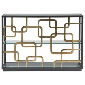 Contemporary Moxie Console Table with Metal Frame