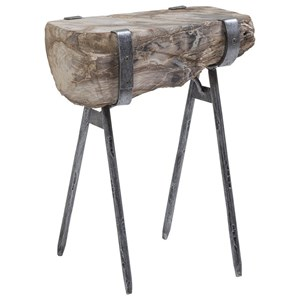 Wyatt Spot Table with Petrified Wood
