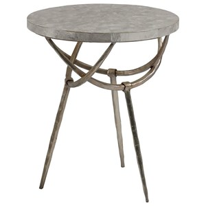 Contemporary Round Spot Table with Capiz Shell Top