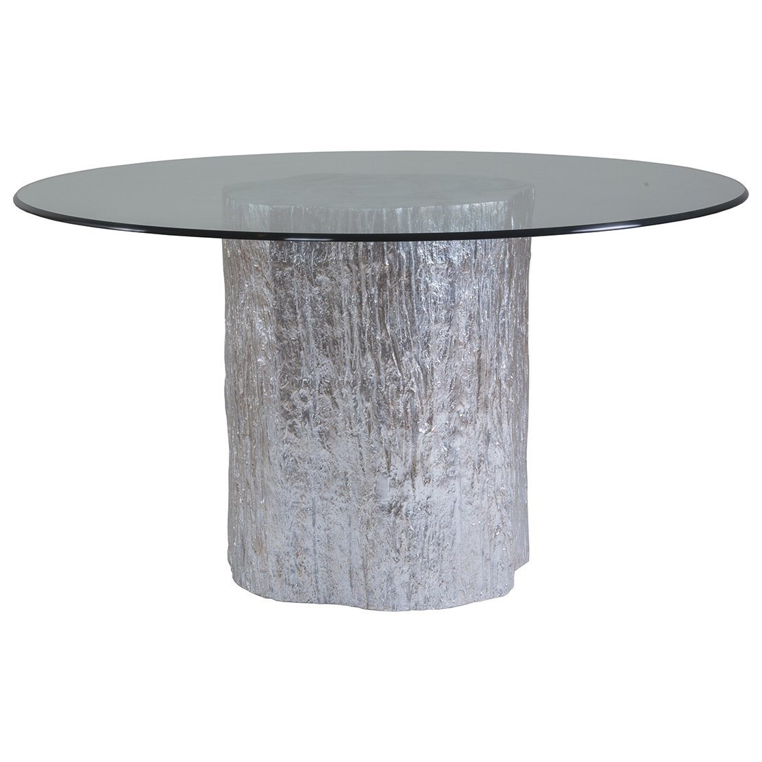 Trunk Segment Trunk Segment Round Dining Table With Glass  by Artistica at Baer's Furniture