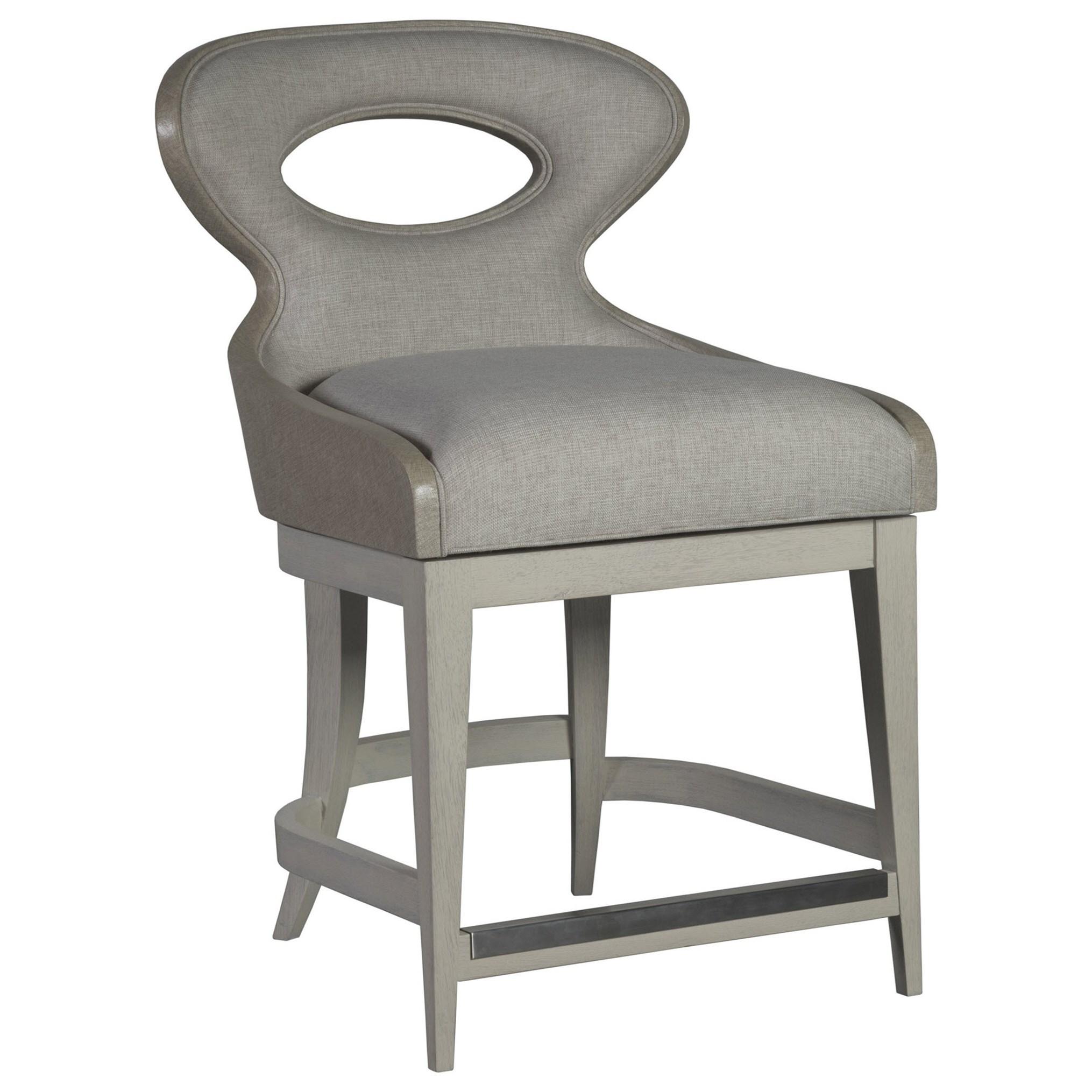 Zeitgeist Linen Upholstered Swivel Counter Stool by Artistica at Baer's Furniture