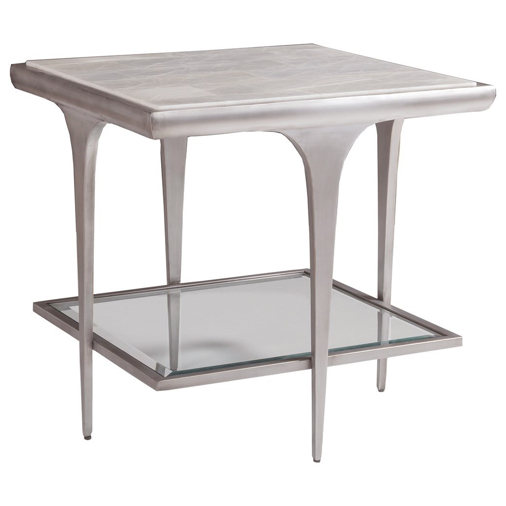 Zephyr Square End Table by Artistica at Alison Craig Home Furnishings