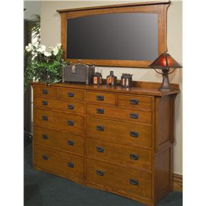 Arts & Crafts Industries Mission  Chest and Mirror Combo