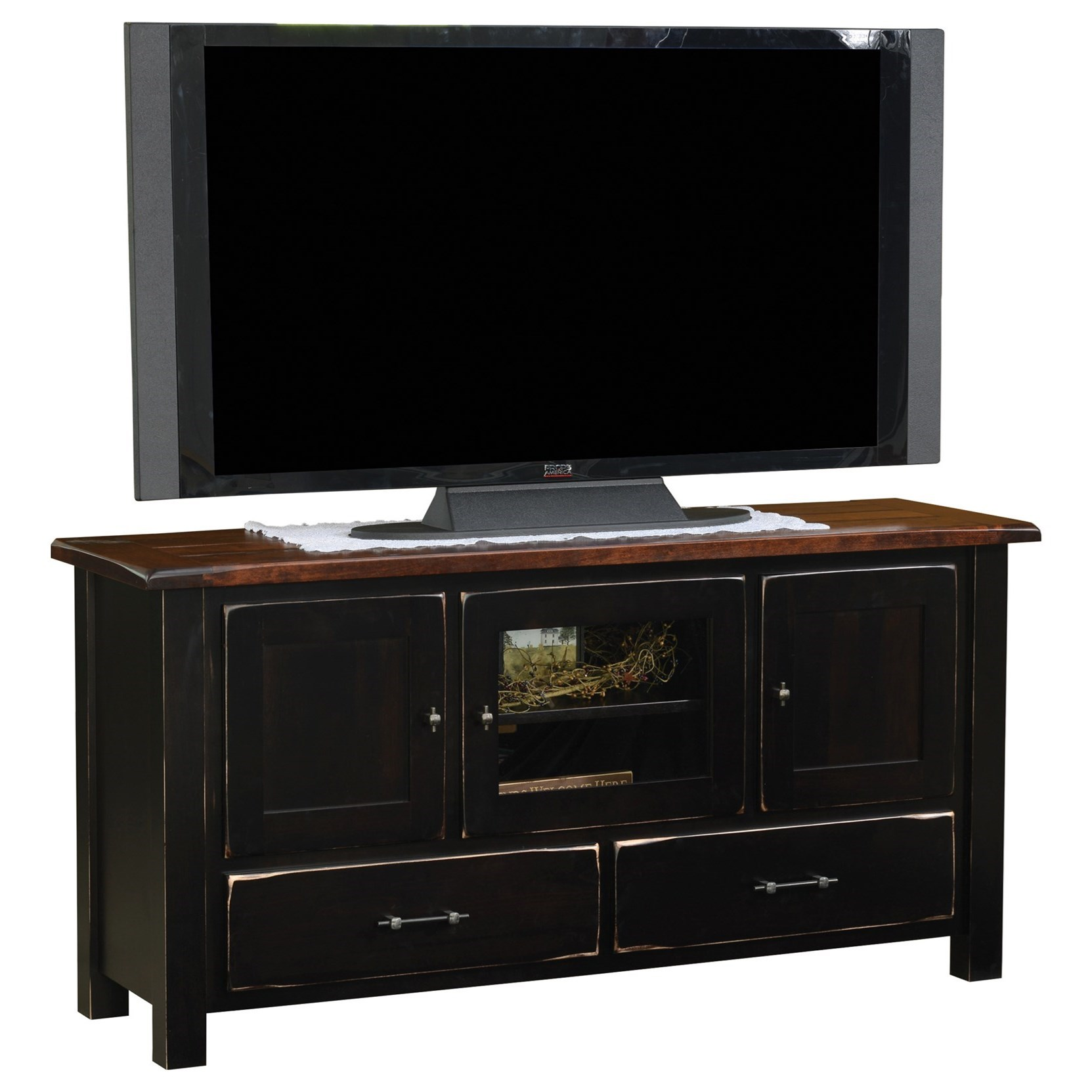 """Barn Floor 60"""" TV Stand by Ashery Oak at Saugerties Furniture Mart"""