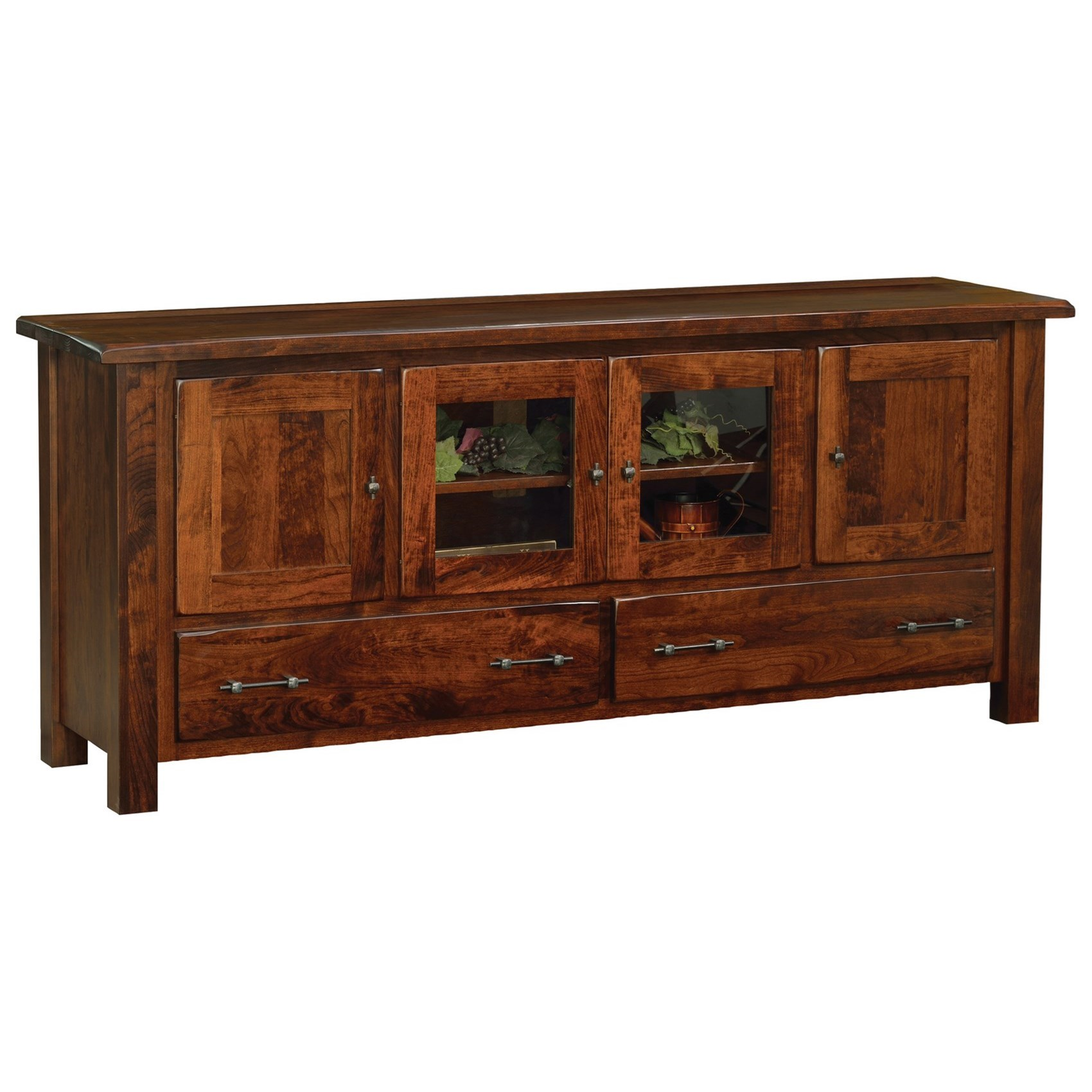 """Barn Floor 70"""" TV Stand by Ashery Oak at Saugerties Furniture Mart"""