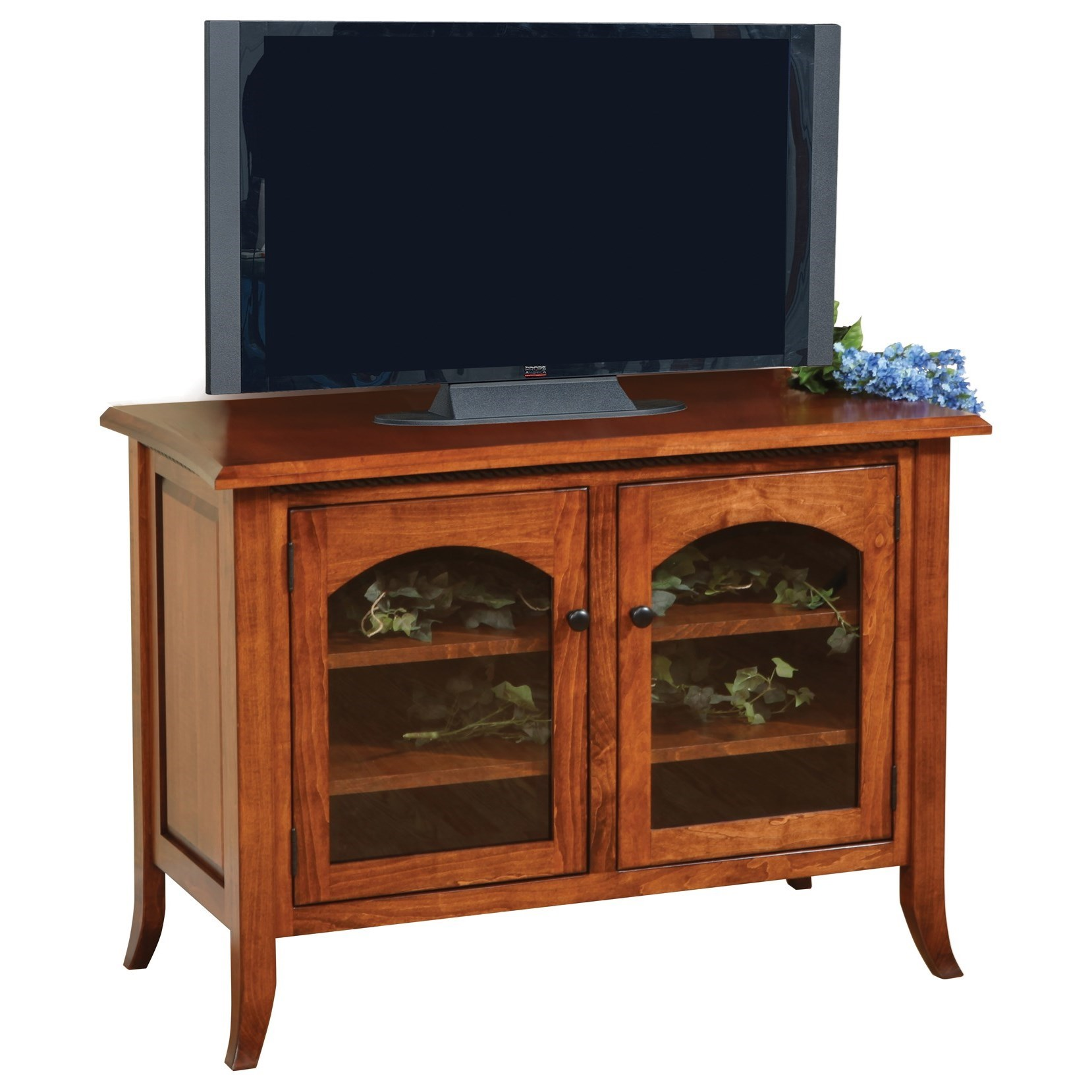 "Bunker Hill 40"" Customizable TV Stand by Ashery Oak at Saugerties Furniture Mart"