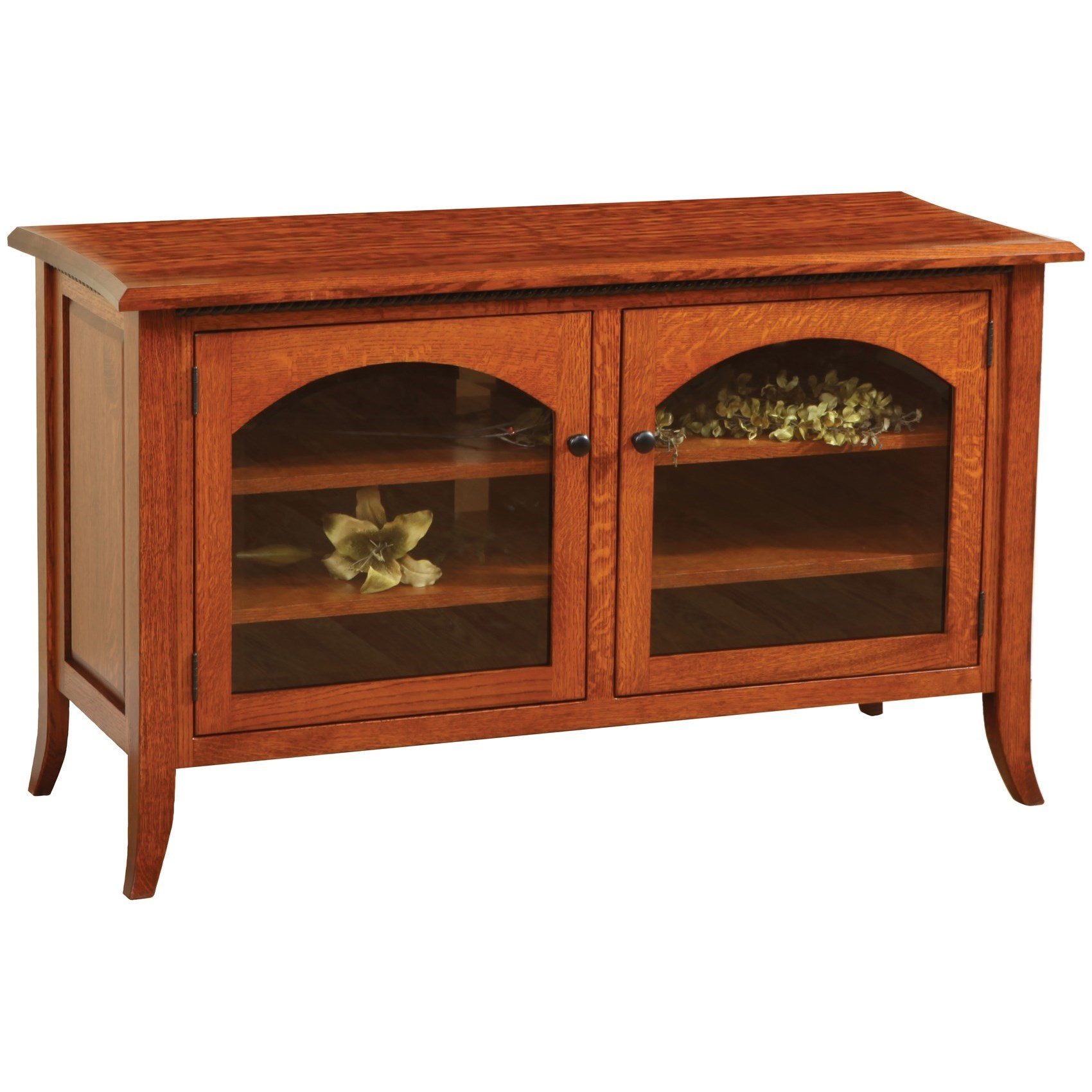 """Bunker Hill 50"""" Customizable TV Stand by Ashery Oak at Saugerties Furniture Mart"""