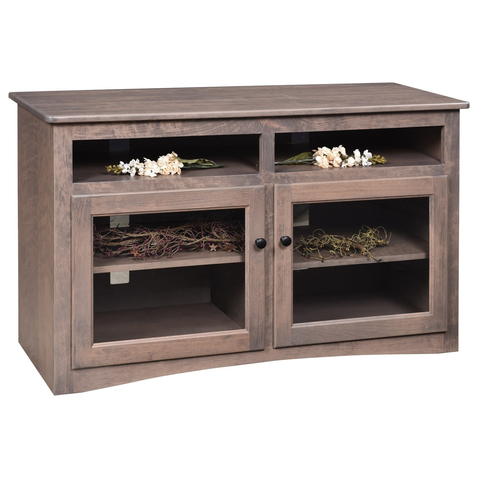 """Economy 50"""" Customizable TV Stand by Ashery Oak at Saugerties Furniture Mart"""