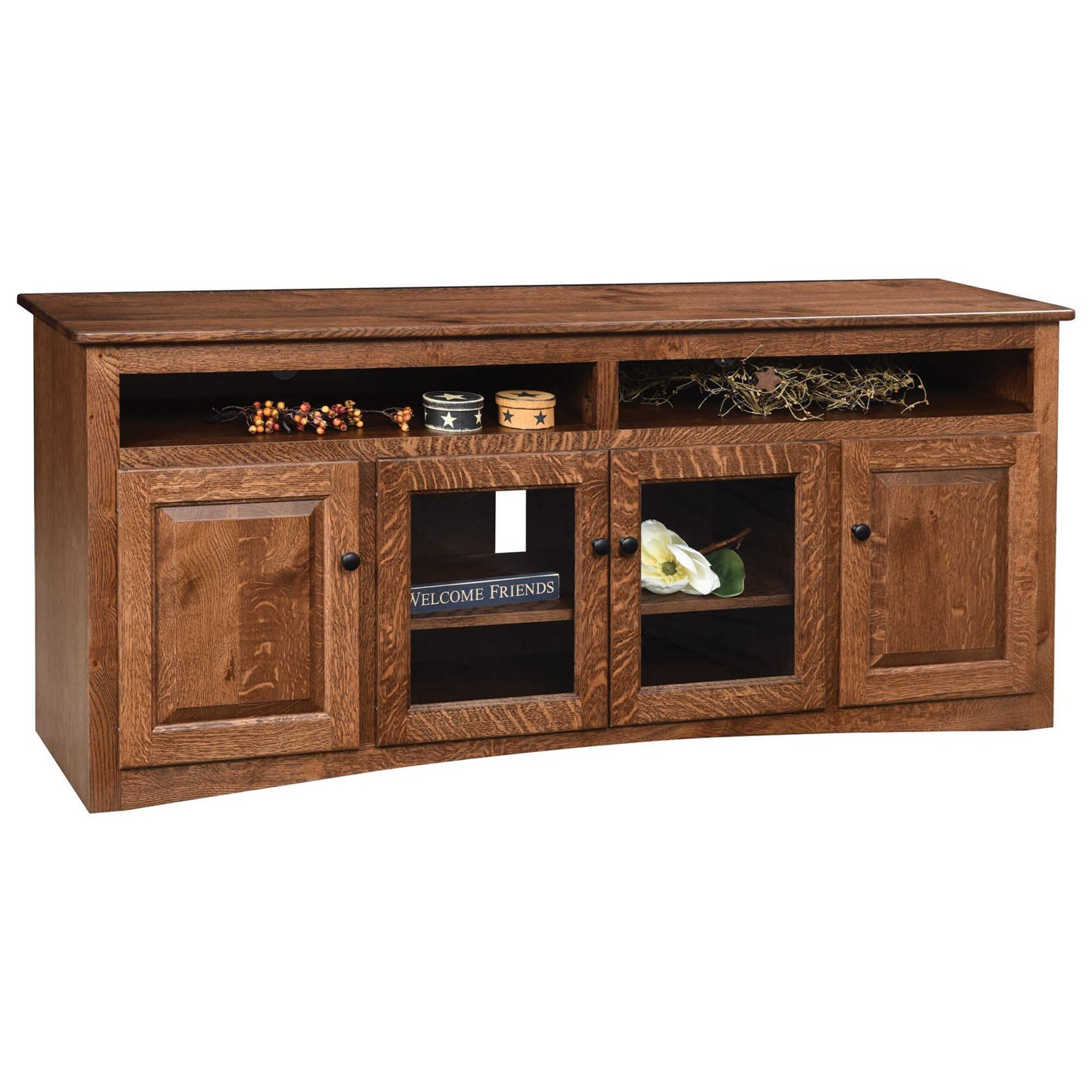 "Economy 70"" Customizable TV Stand by Ashery Oak at Saugerties Furniture Mart"
