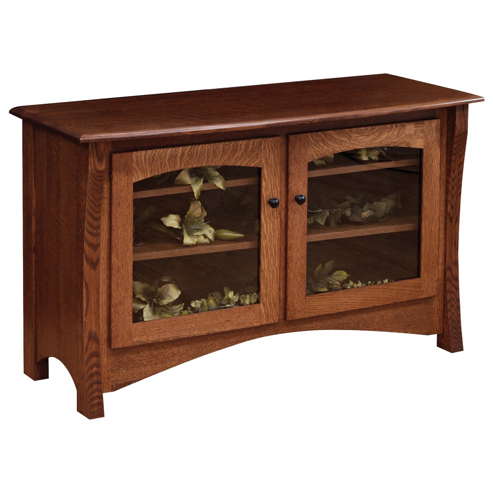 """Master 50"""" Customizable TV Stand by Ashery Oak at Saugerties Furniture Mart"""