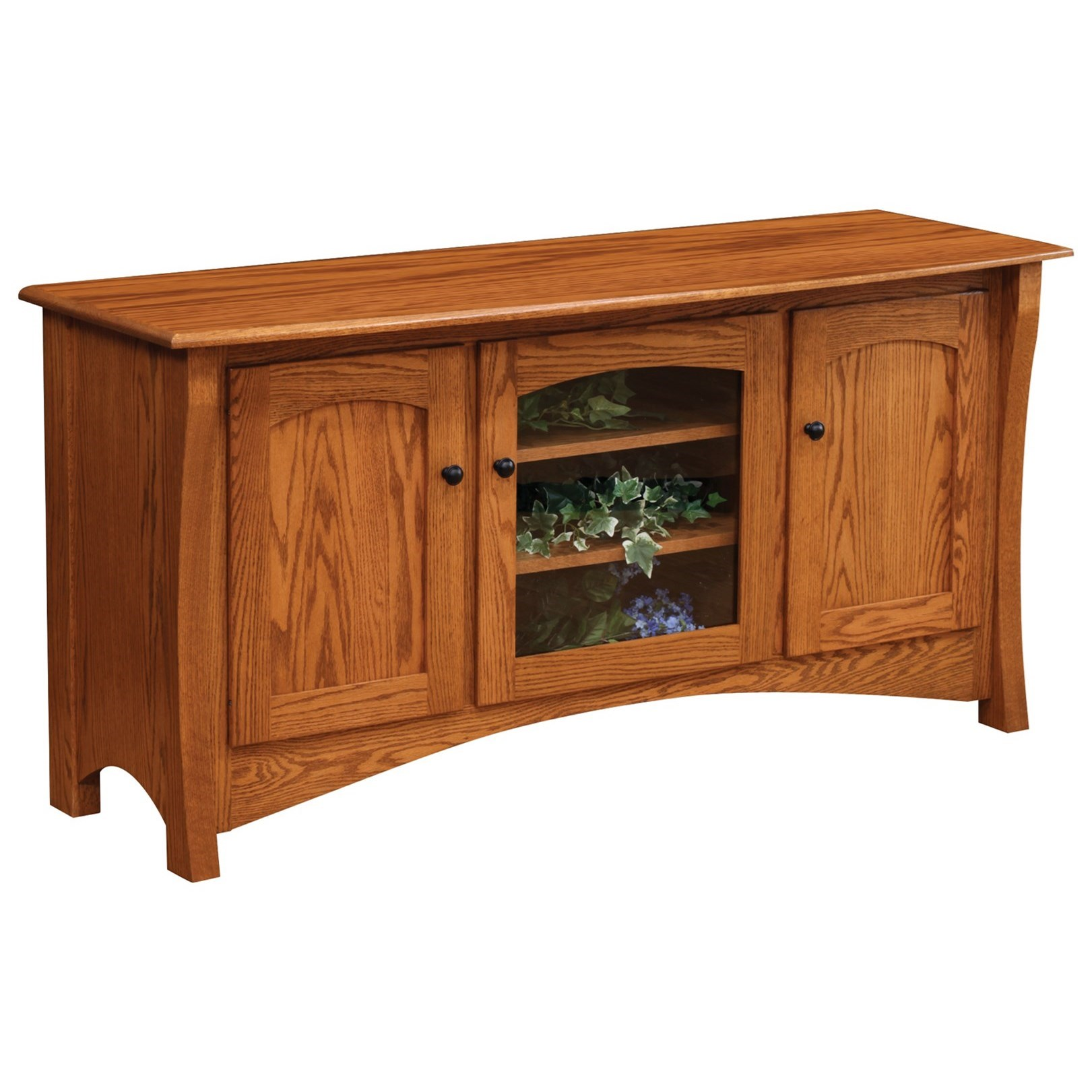 """Master 60"""" Customizable TV Stand by Ashery Oak at Saugerties Furniture Mart"""