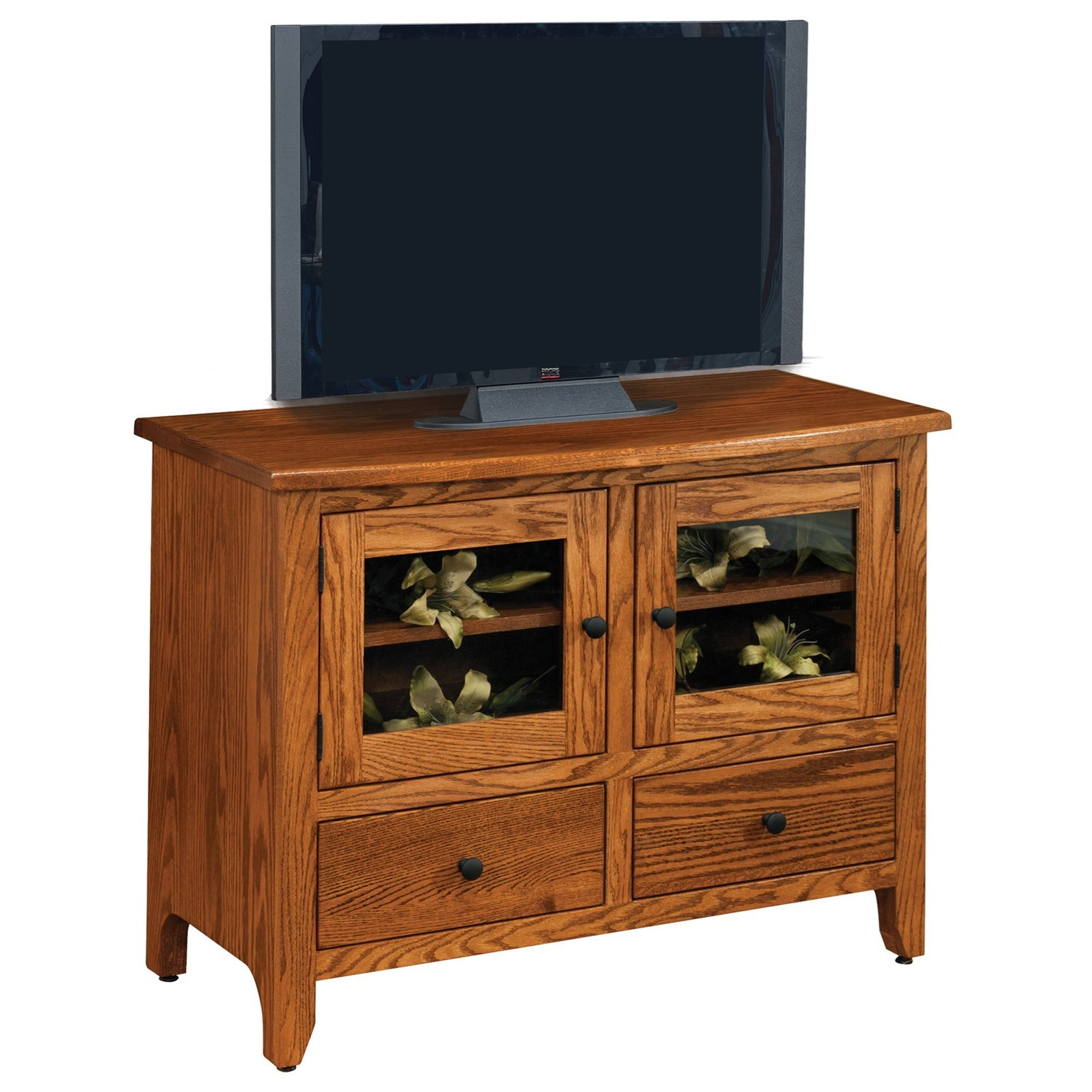 """Shaker 40"""" Customizable TV Stand by Ashery Oak at Saugerties Furniture Mart"""