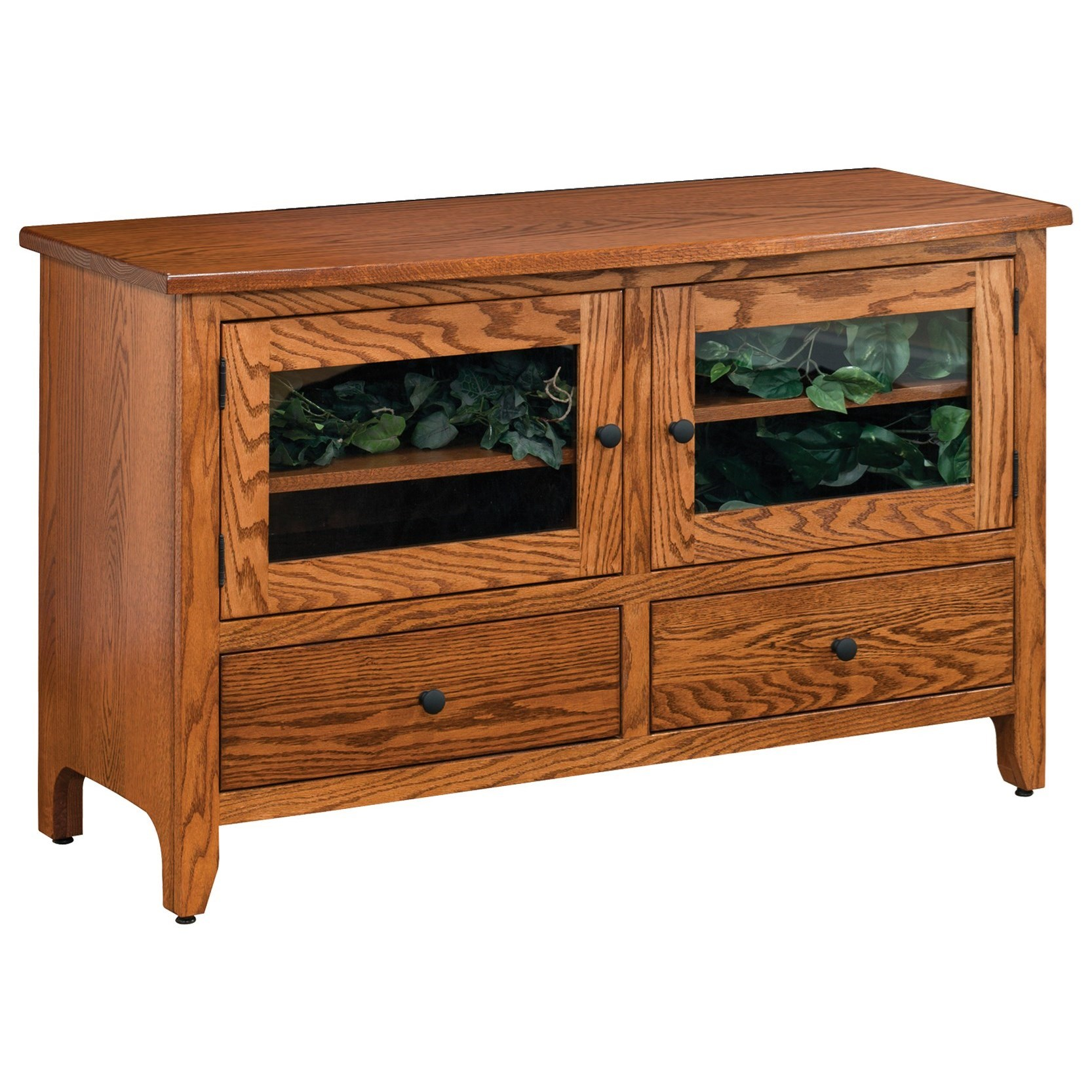 """Shaker 50"""" Customizable TV Stand by Ashery Oak at Saugerties Furniture Mart"""