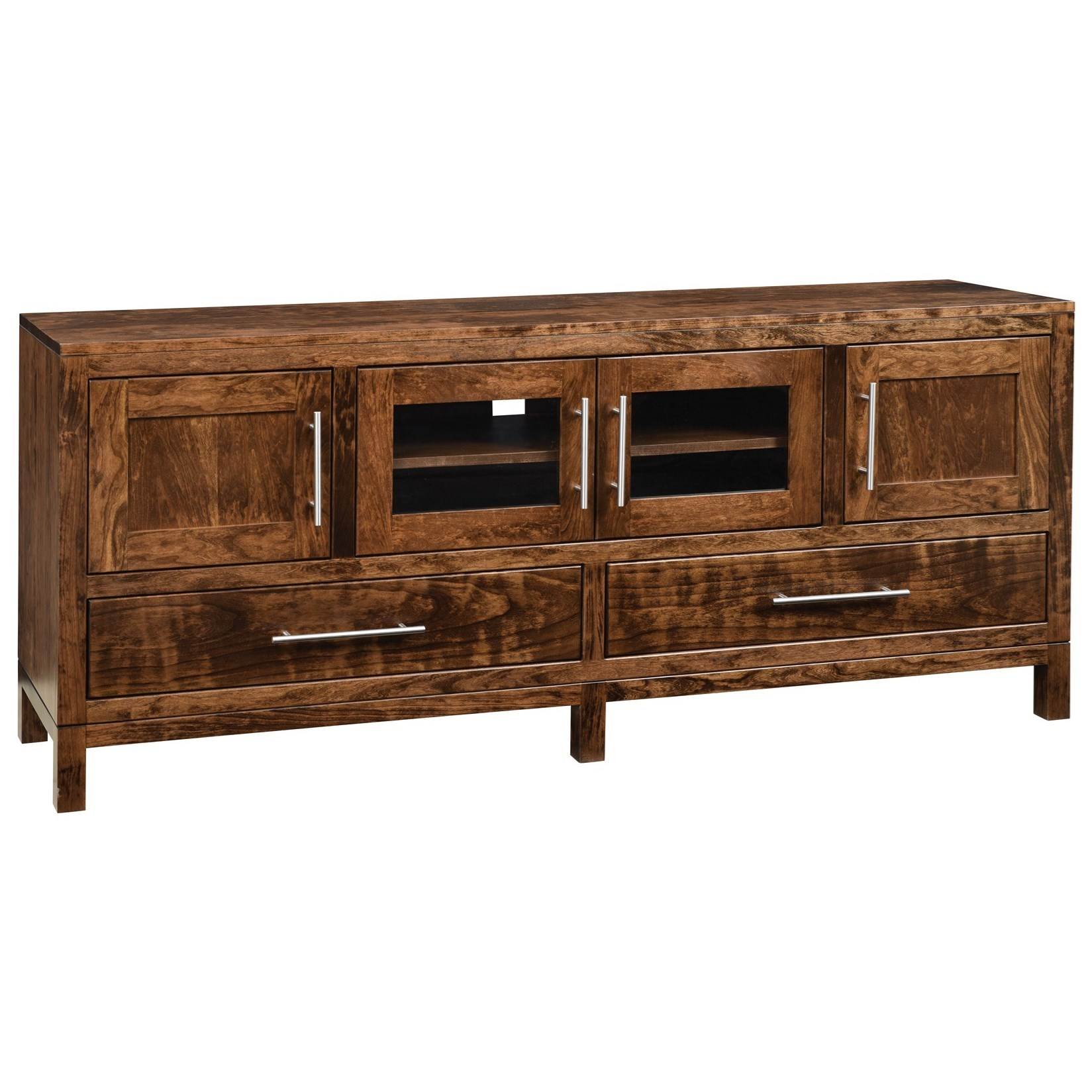 """Vienna 70"""" Customizable TV Stand by Ashery Oak at Saugerties Furniture Mart"""