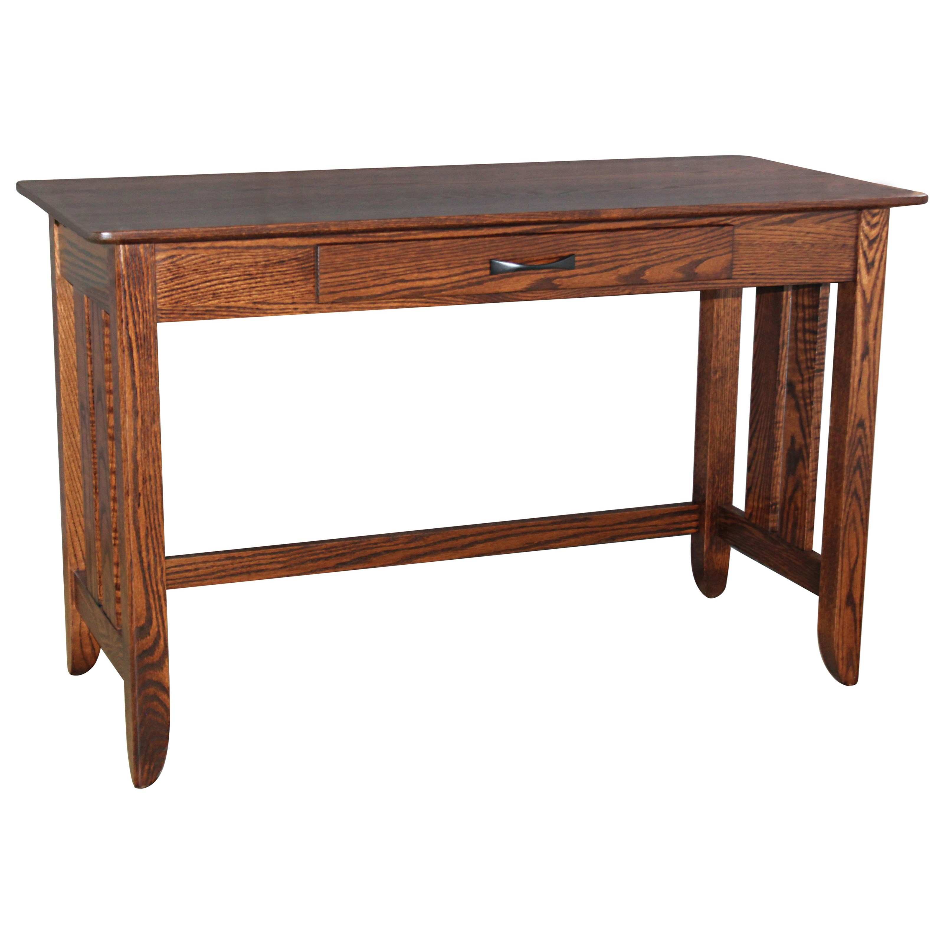 Austin w/ Slats Library Table by Ashery Woodworking at Saugerties Furniture Mart