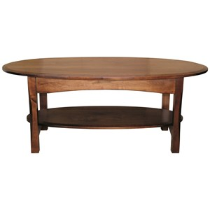 Customizable Solid Wood Oval Coffee Table