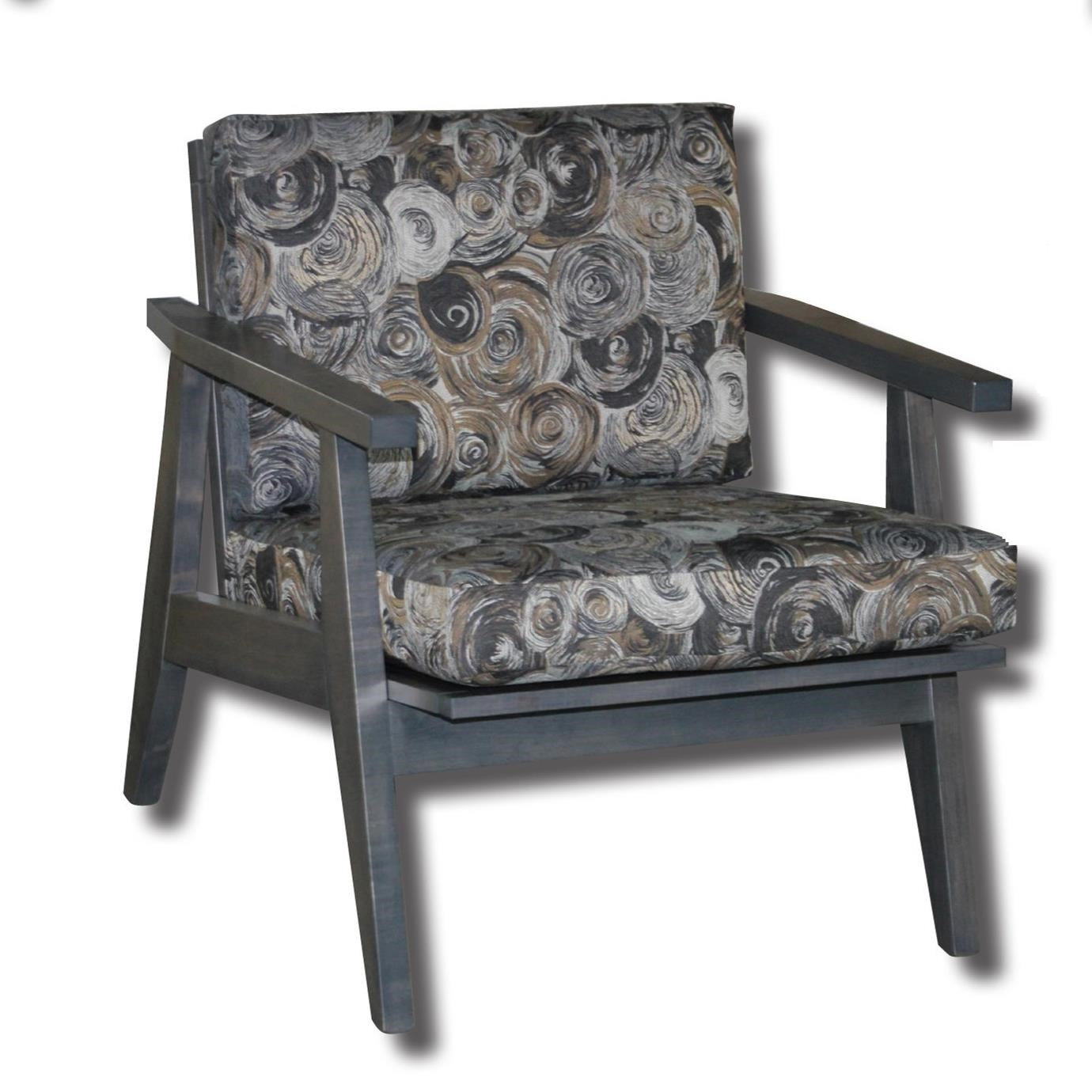 Century Style Customizable Solid Wood Exposed Wood Chair by Ashery Woodworking at Saugerties Furniture Mart