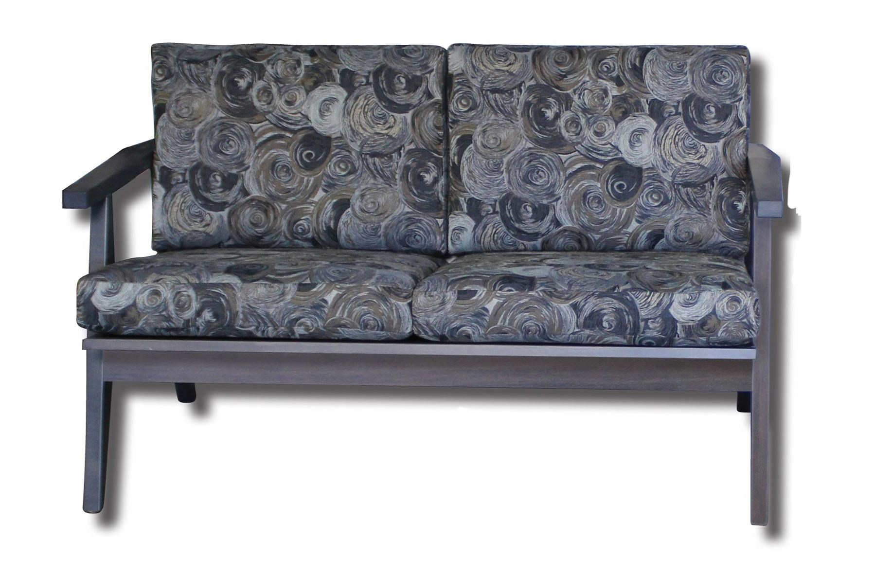 Century Style Customizable Solid Wood Loveseat by Ashery Woodworking at Saugerties Furniture Mart