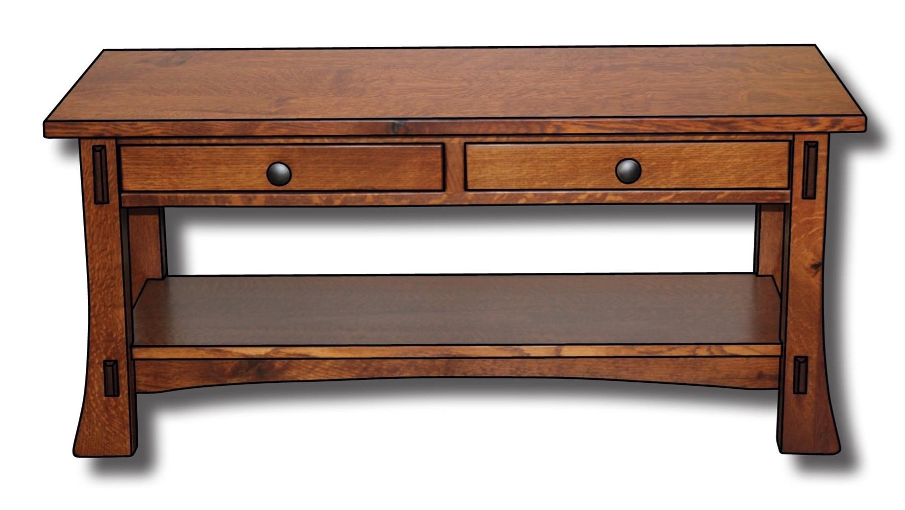 Dutch Style Customizable Solid Wood Coffee Table by Ashery Woodworking at Saugerties Furniture Mart