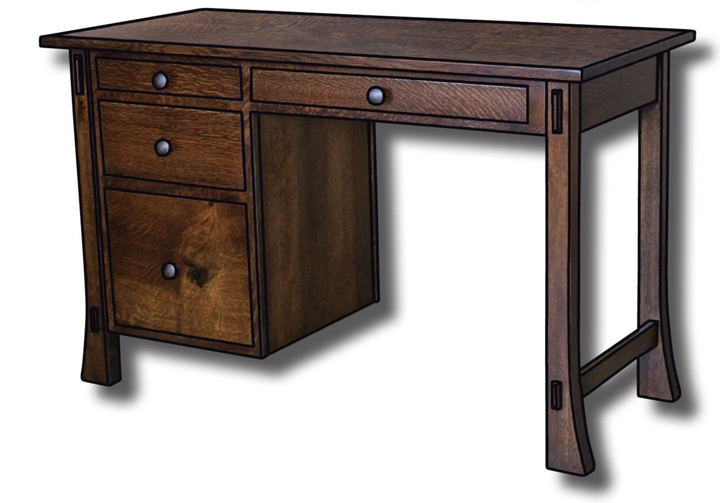 Dutch Style Customizable Solid Wood Student Desk by Ashery Woodworking at Saugerties Furniture Mart