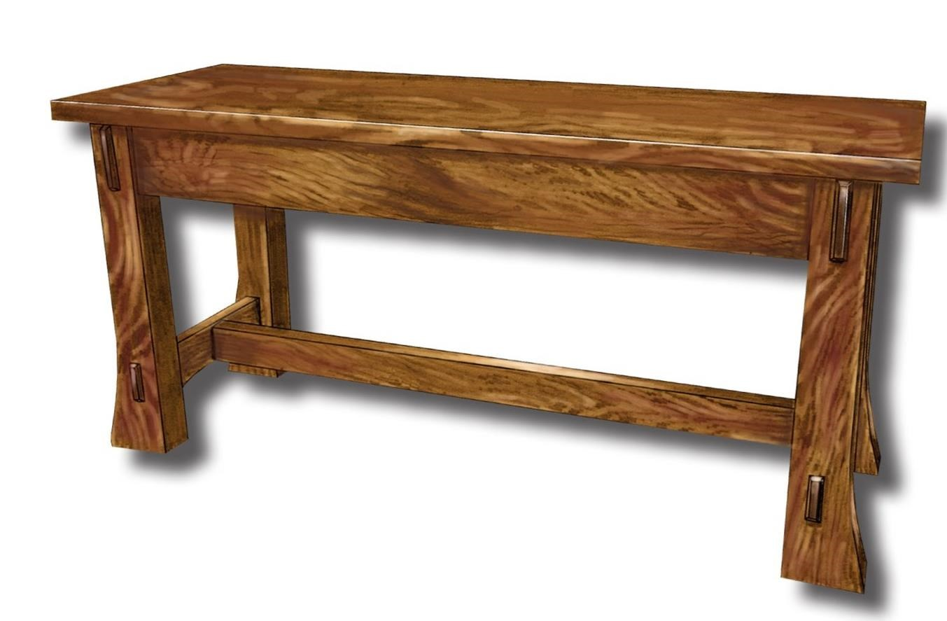 Dutch Style Customizable Solid Wood Bench by Ashery Woodworking at Saugerties Furniture Mart
