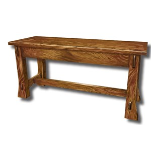 Customizable Solid Wood Bench