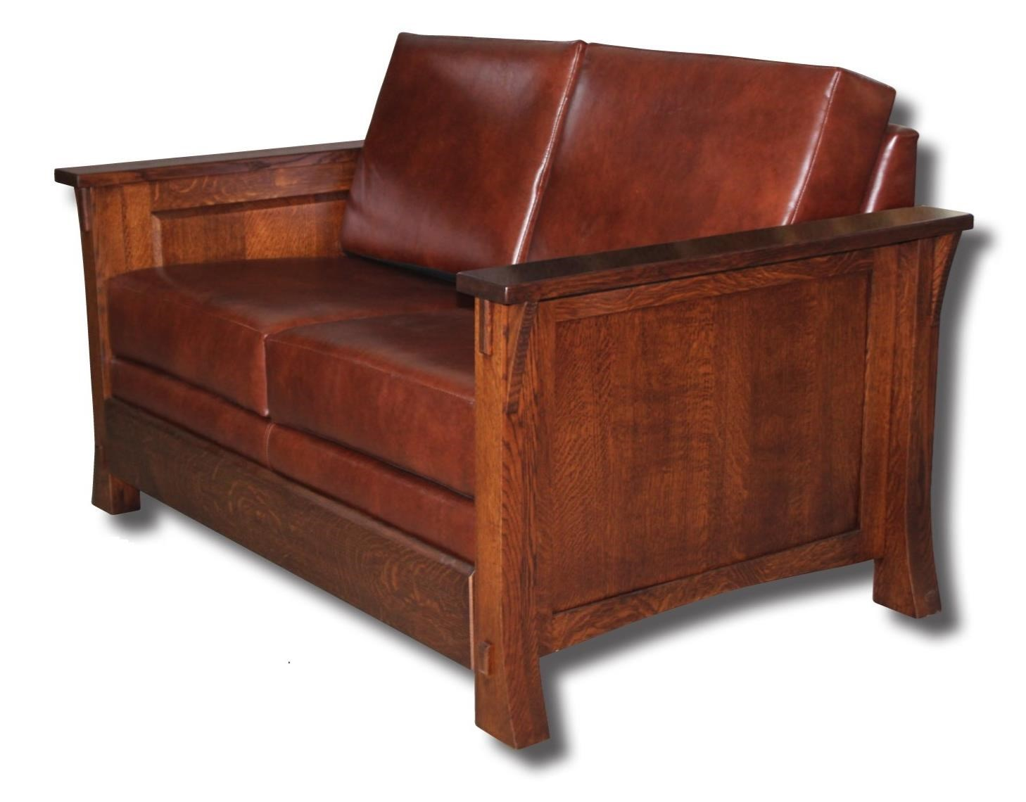 Dutch Style Customizable Solid Wood Loveseat by Ashery Woodworking at Saugerties Furniture Mart