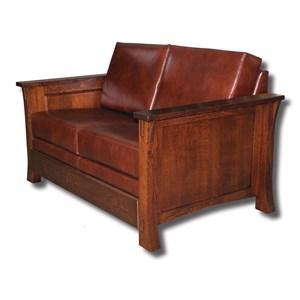 Customizable Solid Wood Loveseat