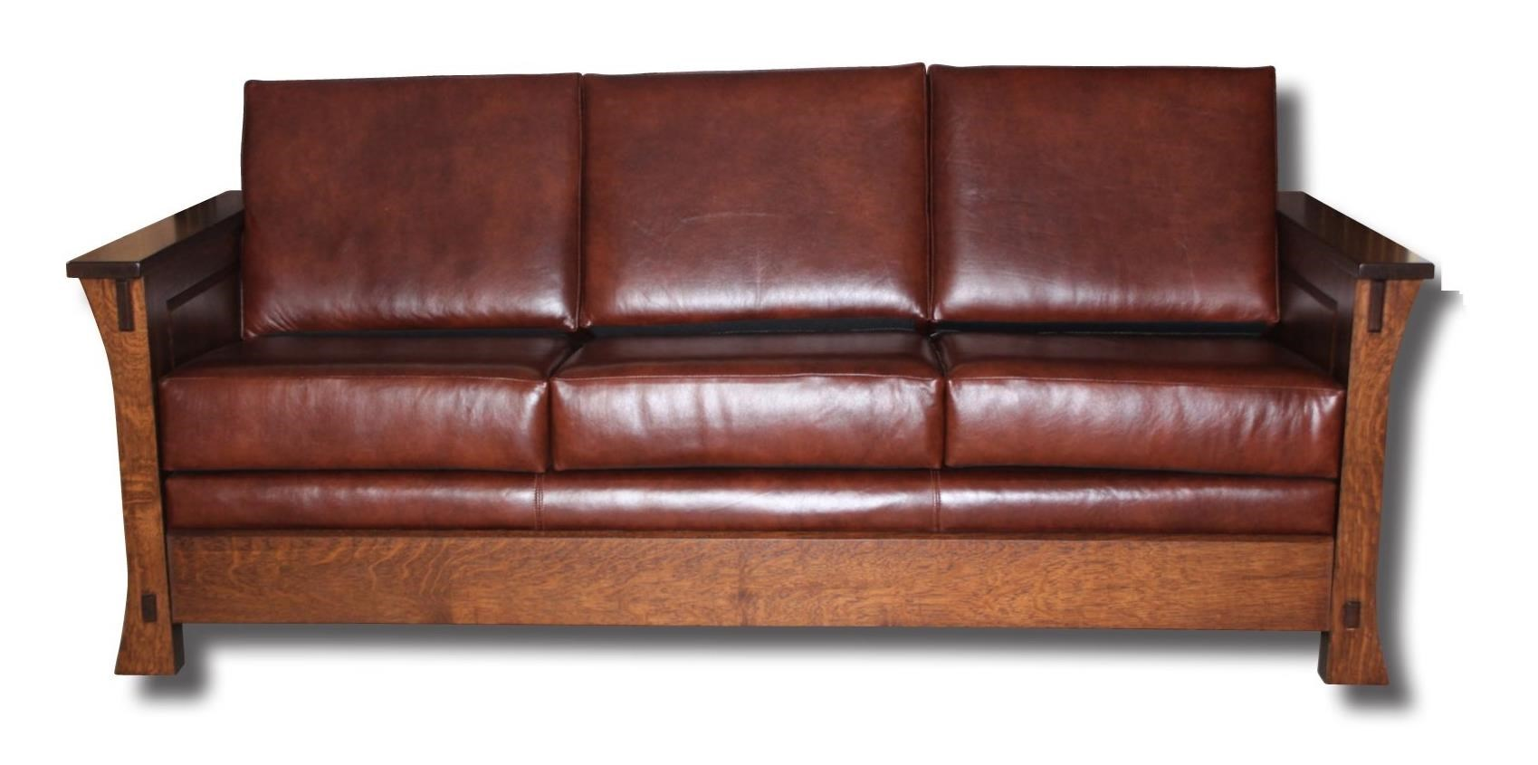 Dutch Style Customizable Solid Wood Sofa by Ashery Woodworking at Saugerties Furniture Mart