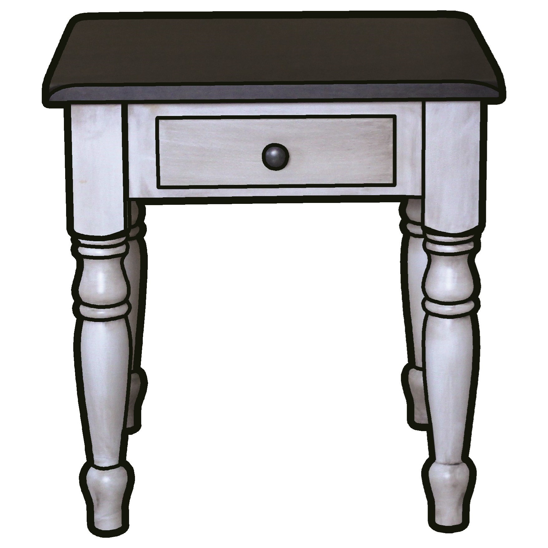 Hartland End Table by Ashery Woodworking at Saugerties Furniture Mart
