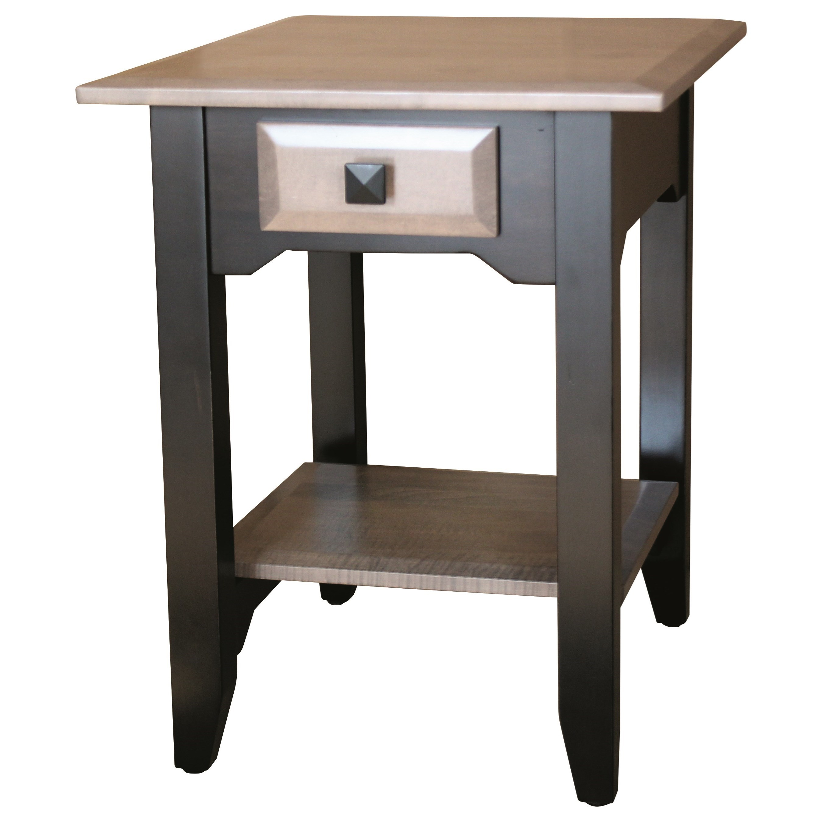 Iris End Table by Ashery Woodworking at Saugerties Furniture Mart