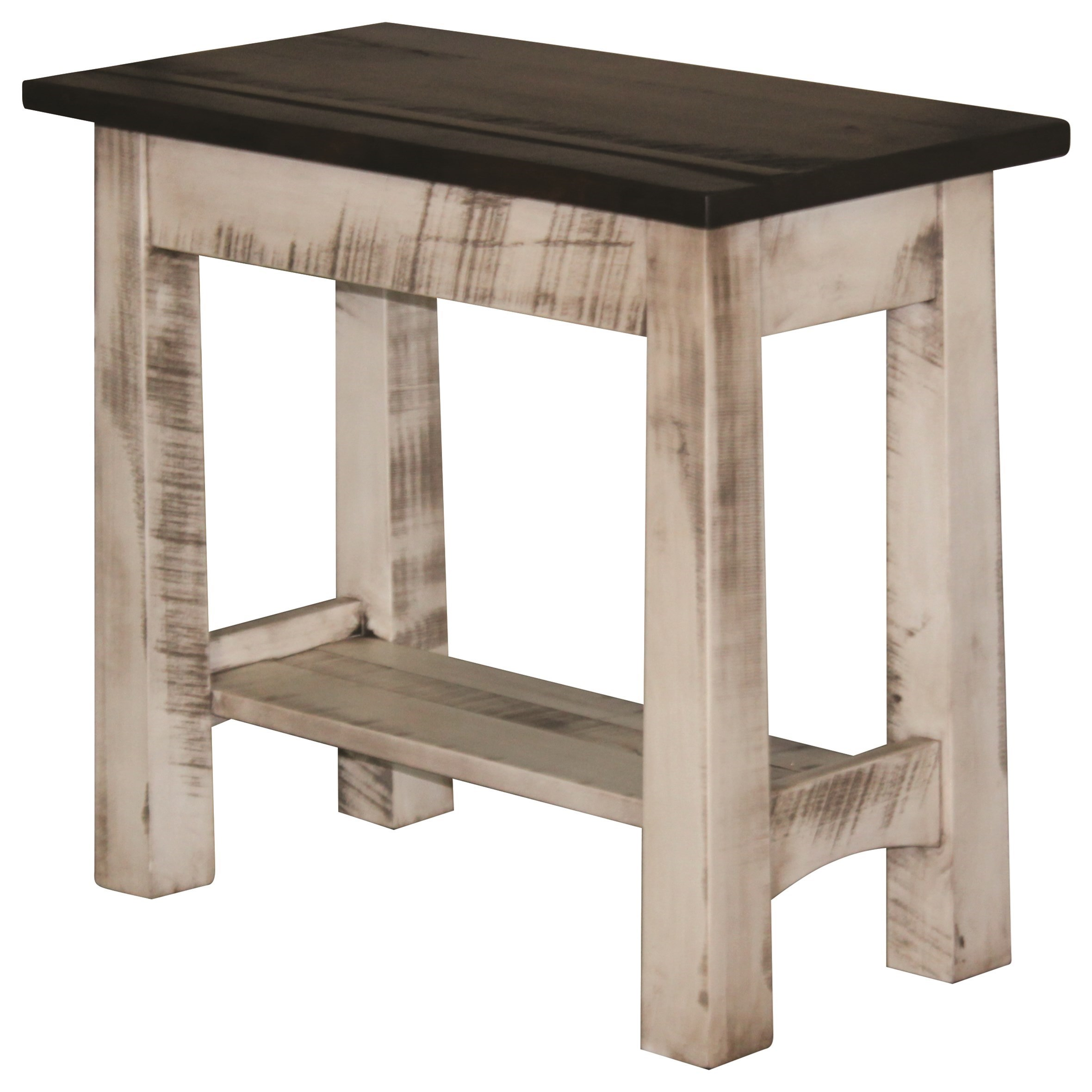 Madison Rough Sawn End Table by Ashery Woodworking at Saugerties Furniture Mart