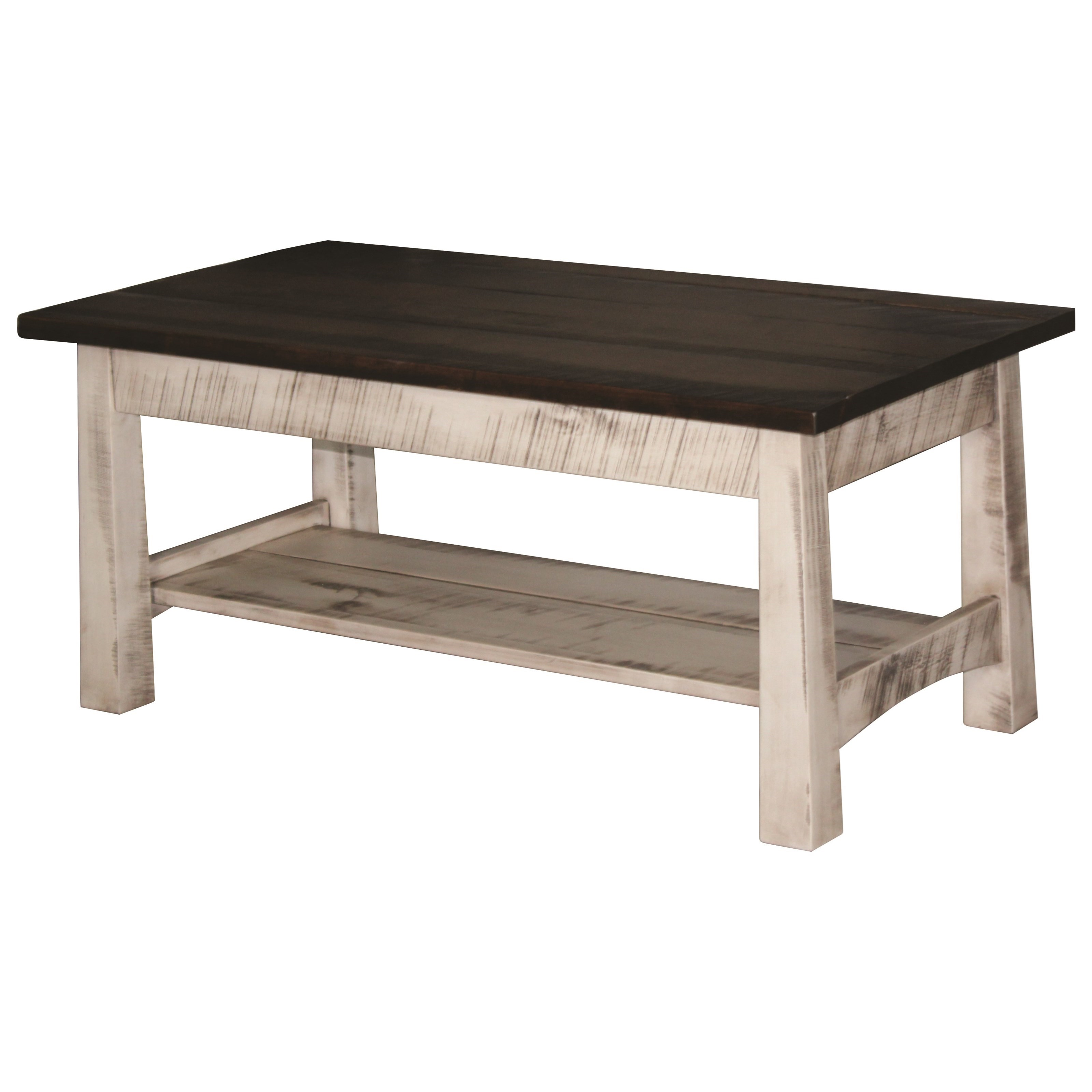 Madison Rough Sawn Coffee Table by Ashery Woodworking at Saugerties Furniture Mart