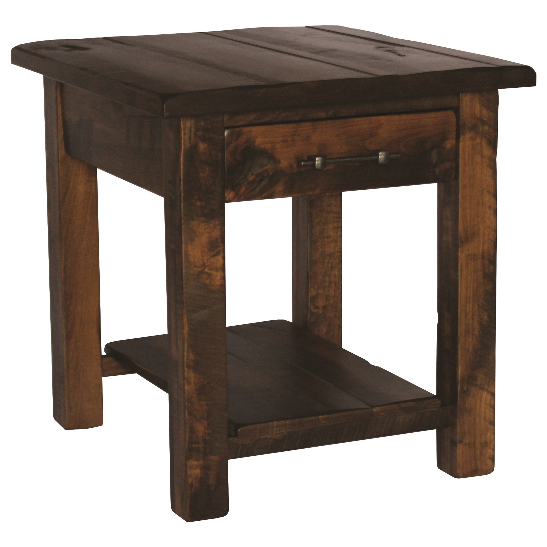 Milltown End Table by Ashery Woodworking at Saugerties Furniture Mart