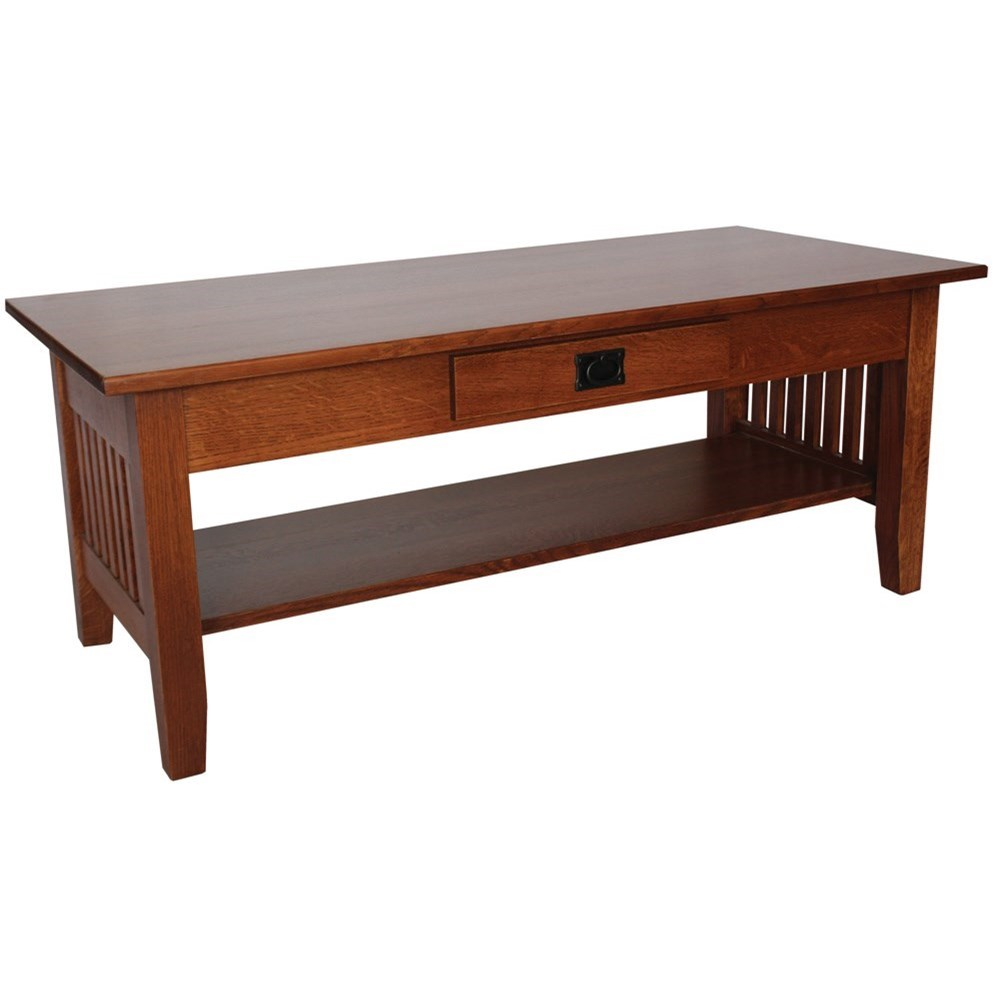 Prairie Mission Customizable Solid Wood Coffee Table by Ashery Woodworking at Saugerties Furniture Mart