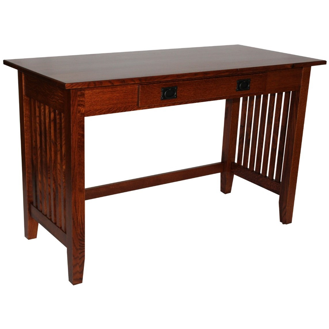 Prairie Mission Customizable Solid Wood Console Table by Ashery Woodworking at Saugerties Furniture Mart