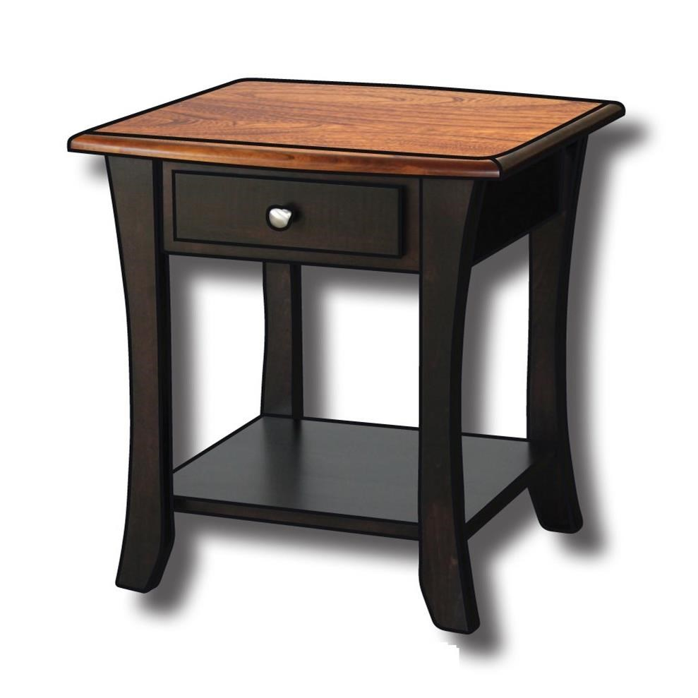 """Roseberry Customizable Solid Wood 22"""" End Table by Ashery Woodworking at Saugerties Furniture Mart"""