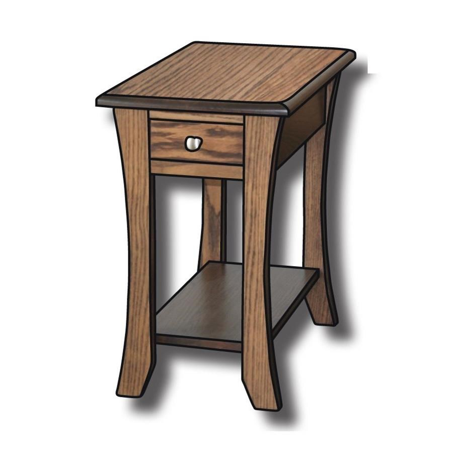 """Roseberry Customizable Solid Wood 14"""" End Table by Ashery Woodworking at Saugerties Furniture Mart"""
