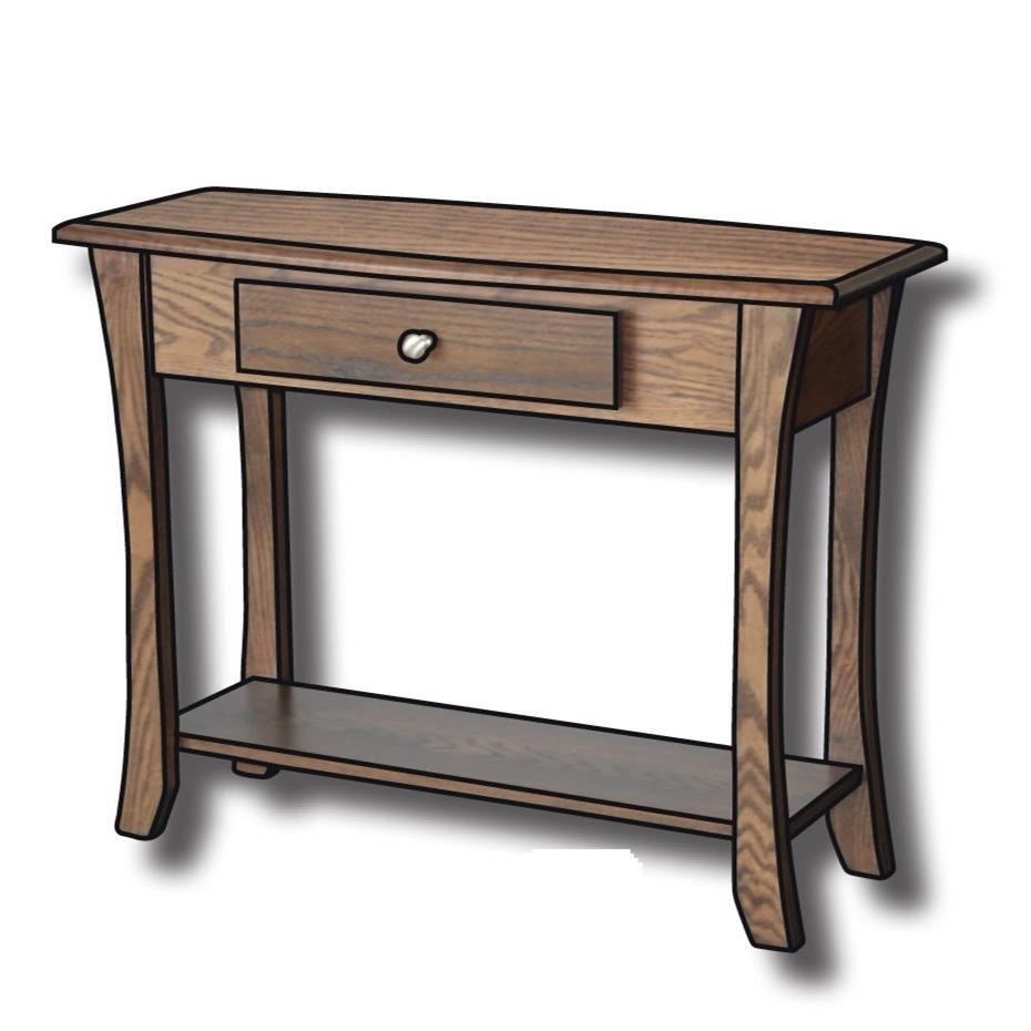 """Roseberry Customizable Solid Wood 36"""" Sofa Table by Ashery Woodworking at Saugerties Furniture Mart"""