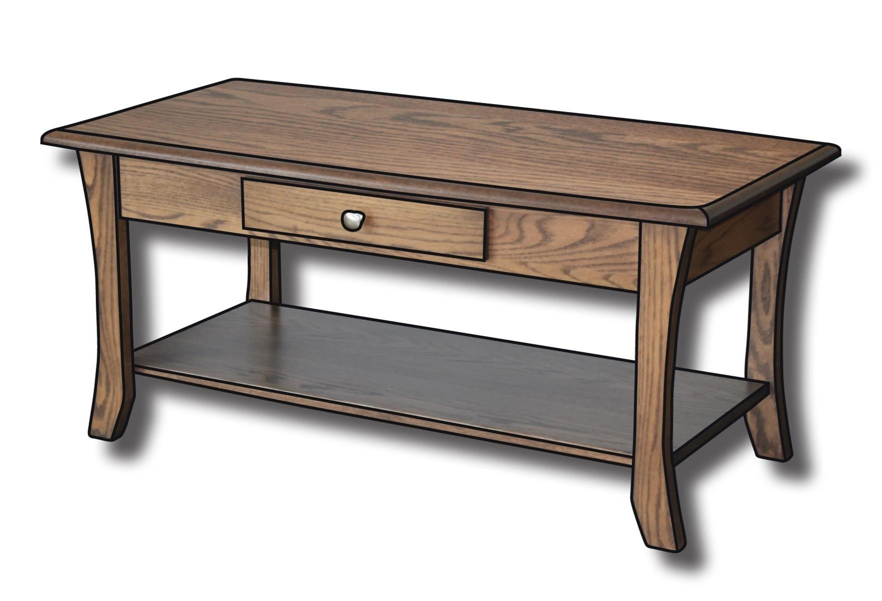 """Roseberry Customizable Solid Wood 42"""" Coffee Table by Ashery Woodworking at Saugerties Furniture Mart"""
